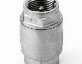 Válvula de retención a muelle con sellado adecuado a la temperatura